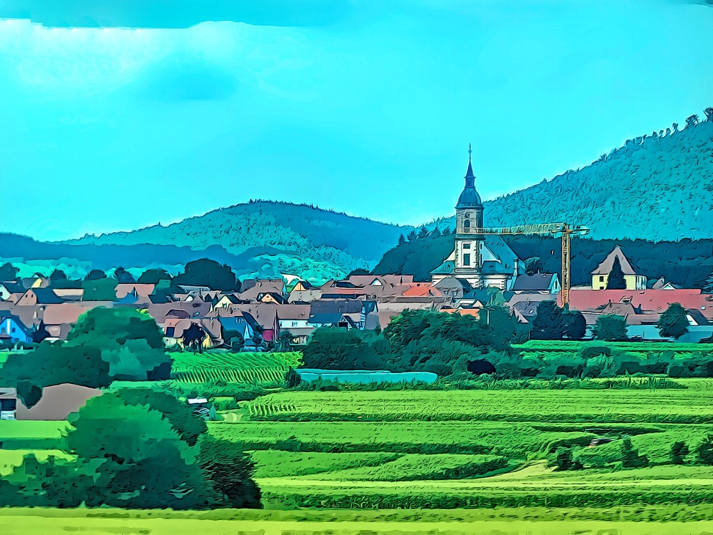 A village in Alsace by ludwigsdiana