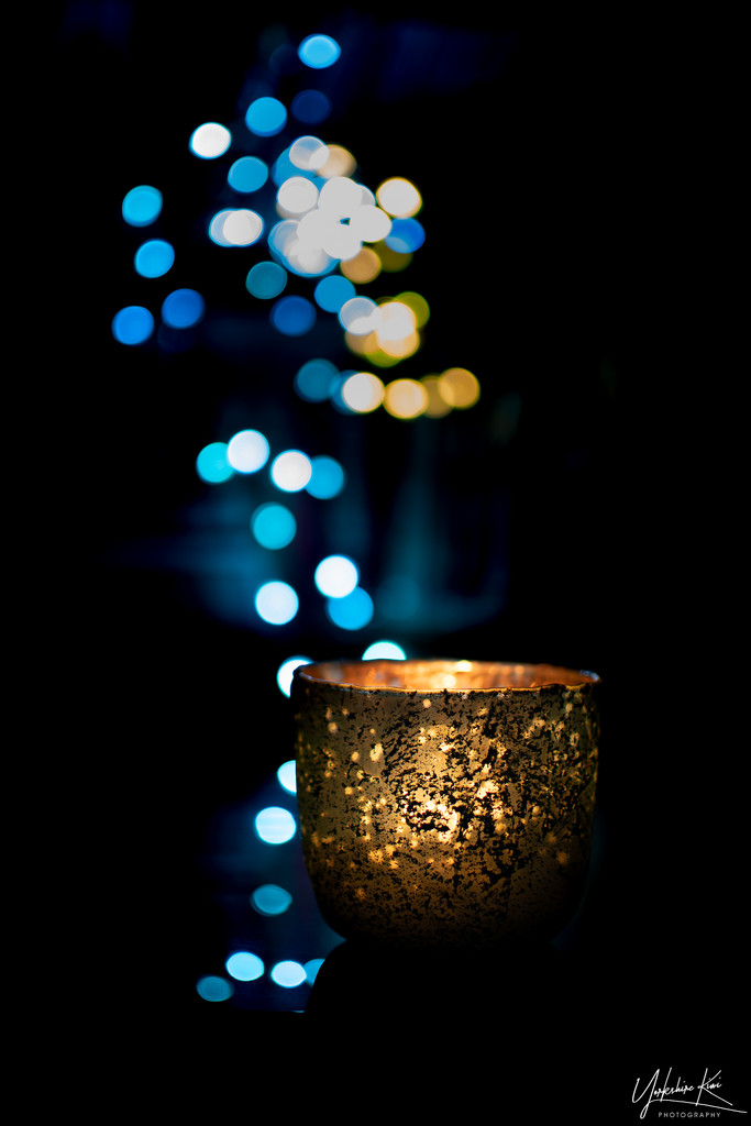Candlelight and bokeh by yorkshirekiwi