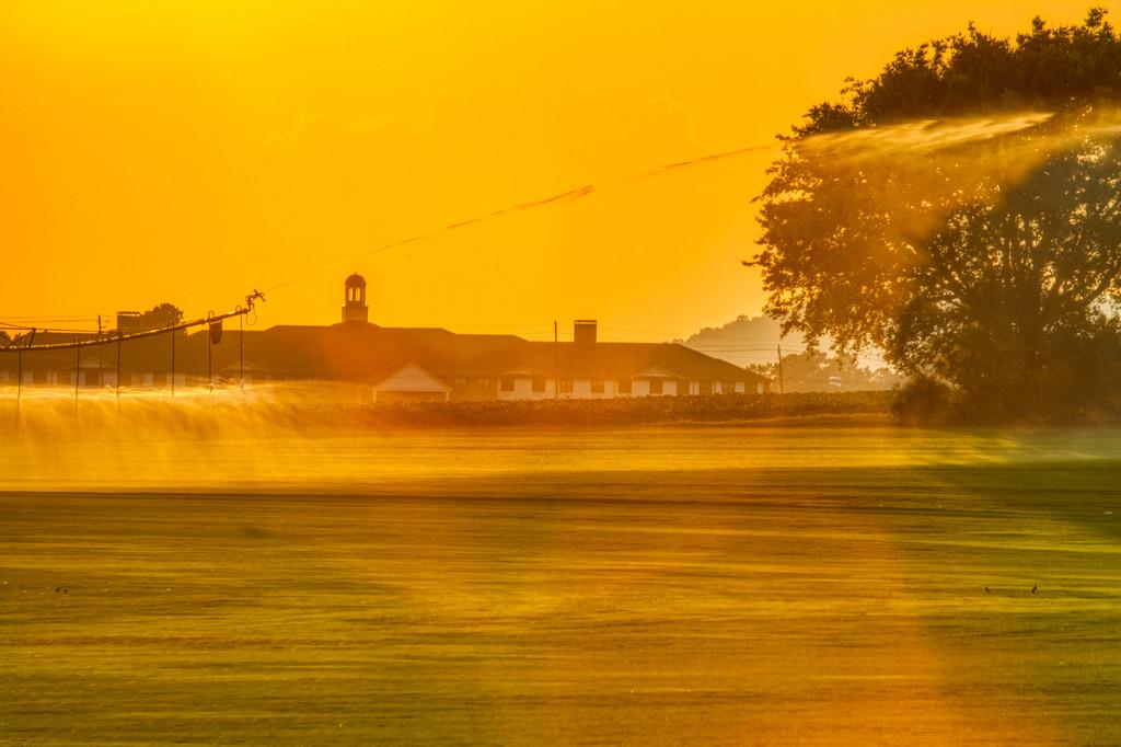 Sod Farm Sunset by kvphoto