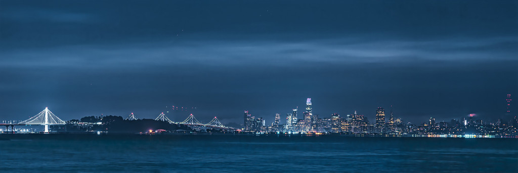 SF Panorama from Point Isabel 4:21am by mikegifford
