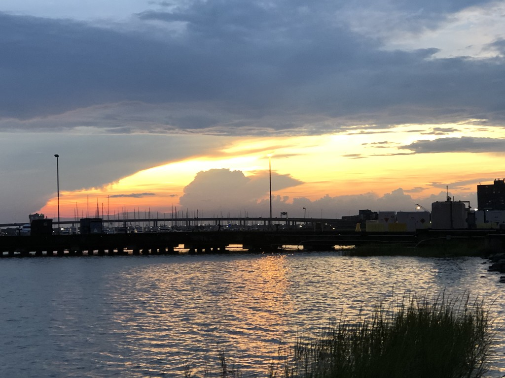 Sunset after a storm, Ashley River, Chsrleston by congaree