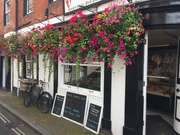 "15th Aug 2019 - This butchers shop has a good display for the ""Ludlow in bloom"" competion"