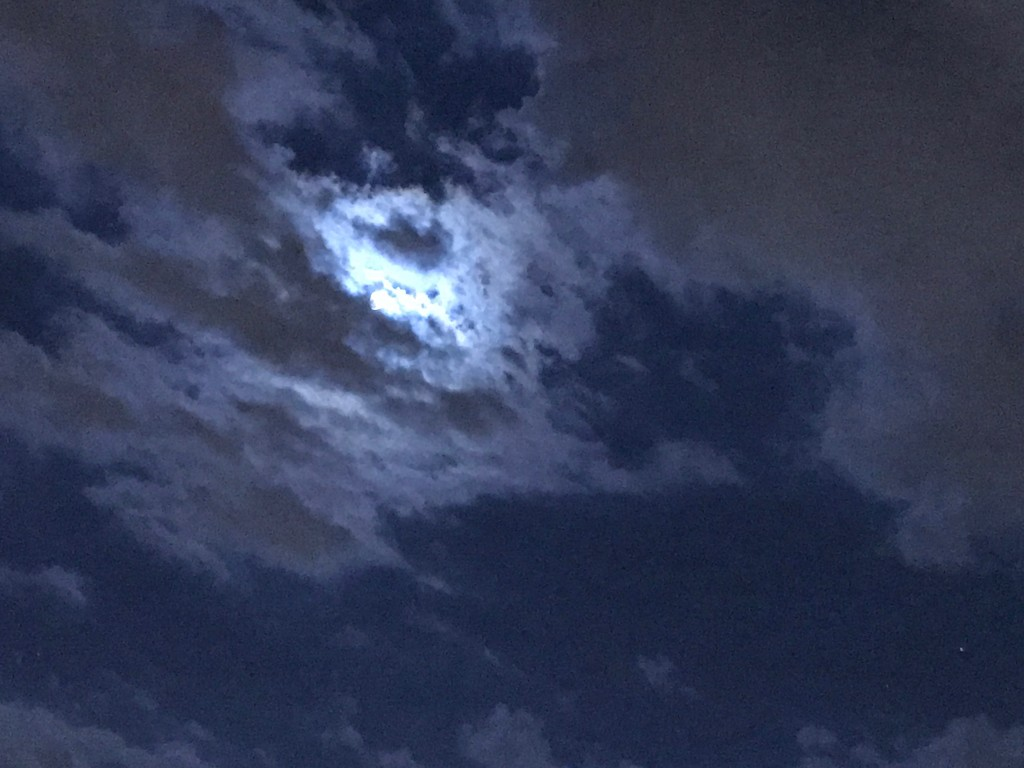 Full Moon and Clouds by allie912