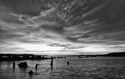 18th Aug 2019 - Harbor Vista Sunset for B and W