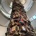 Tower of books featuring Lincoln