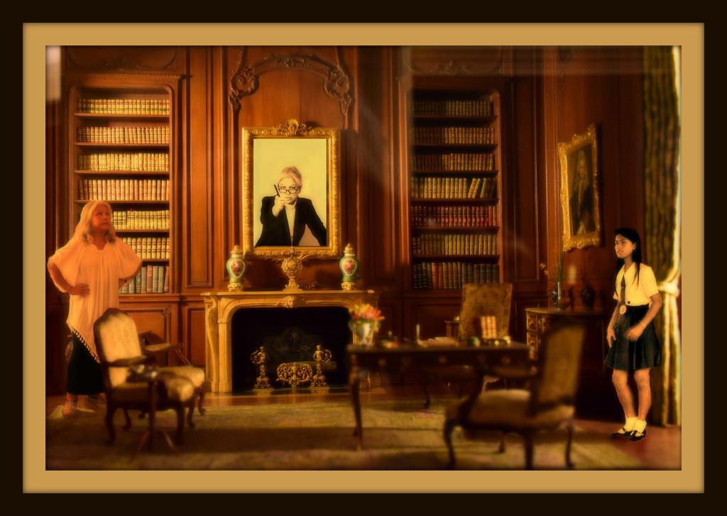 à l'intérieur de la bibliothèque by summerfield