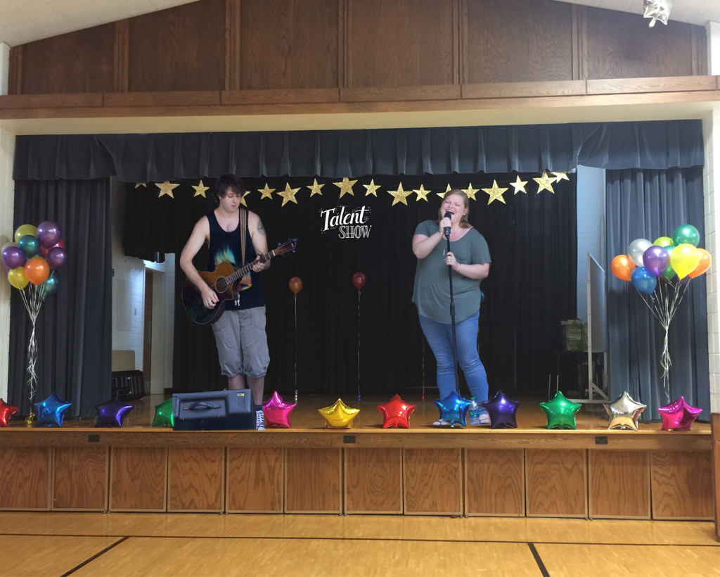 School Talent Show (for composite challenge) by not_left_handed