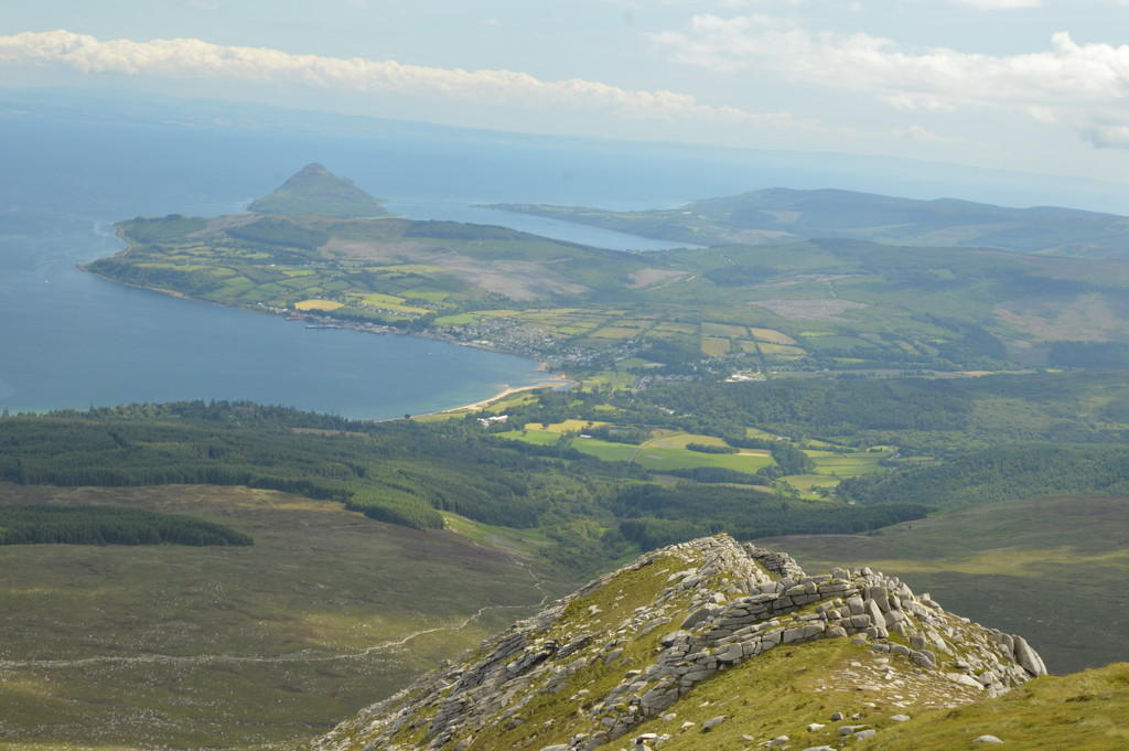 View of Brodick from Goat Fell by gemmabrowne