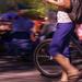 Walking Her Bike