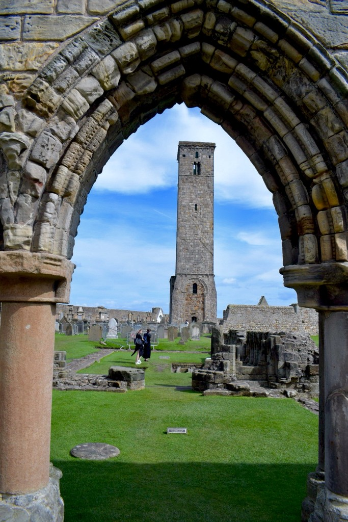 St. Rule's Tower through an Arch by sandlily