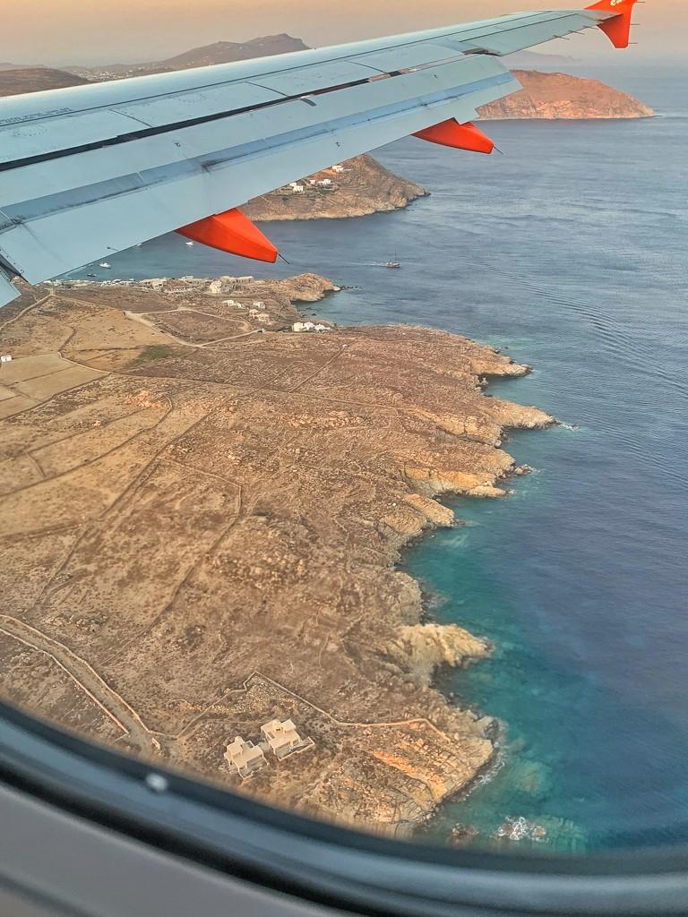 Landing in Mykonos.  by cocobella