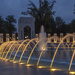 WWII memorial fountains