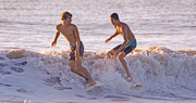 27th Aug 2019 - Two Surfers About to Collide!