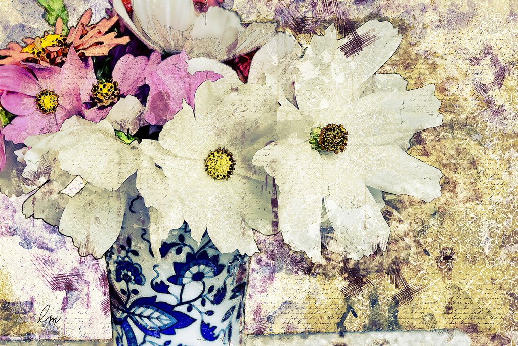 Coffee, Cosmos & Collage by Weezilou