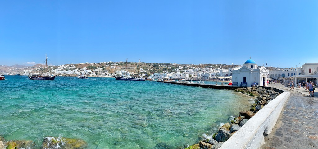 Old Mykonos harbor.  by cocobella