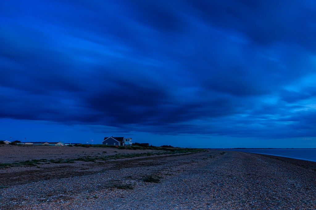 Snettisham Beach after sunset by padlock