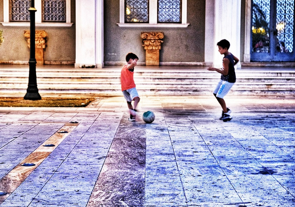 Soccer game by caterina