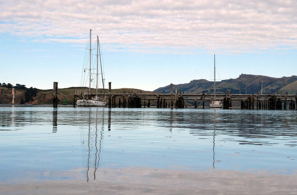 Low tide Lyttelton Harbour by maureenpp