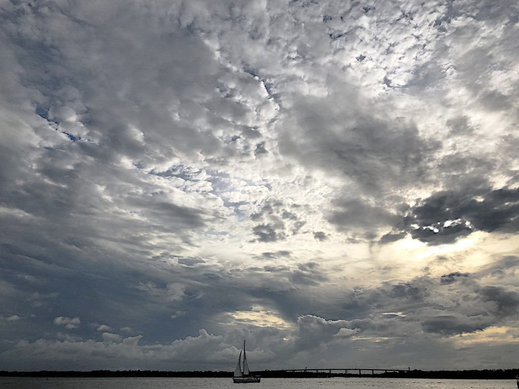 Very dramatic and interesting skies over the Ashley River in Charleston yesterday. by congaree
