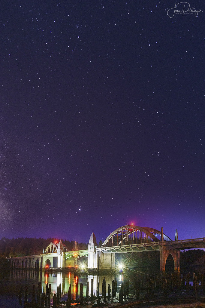 Milky Way and Bridge by jgpittenger