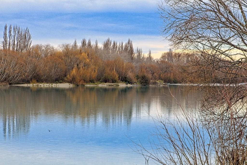 Waimakariri River reflections by kiwinanna