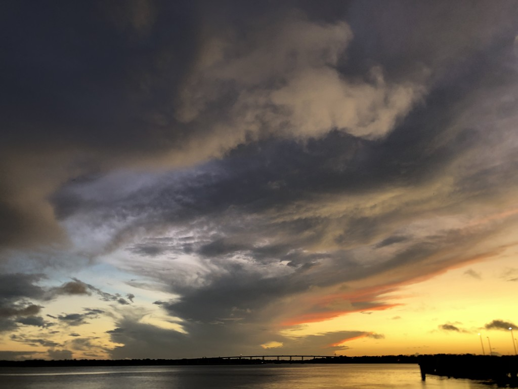 The skies have been amazing over the Ashley River in Charleston. by congaree