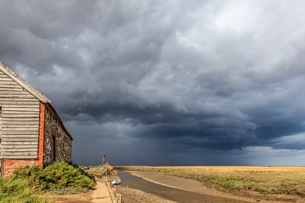 Approaching storm-Thornham by padlock