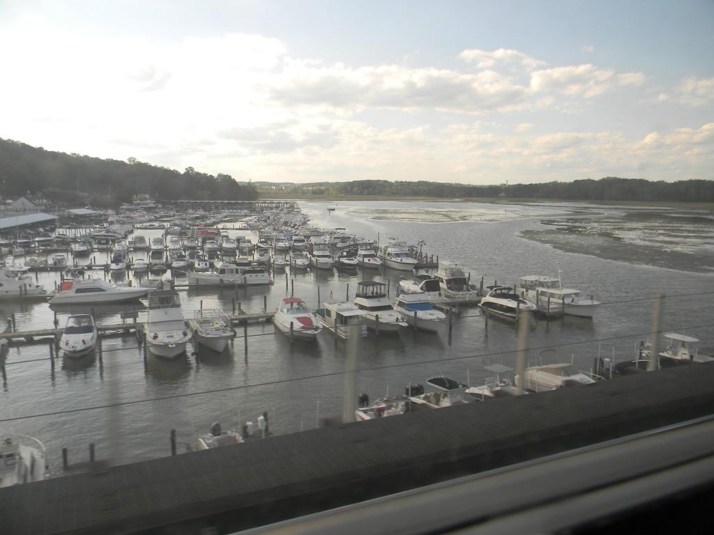 Boat Dock in Virginia on Train Ride by sfeldphotos