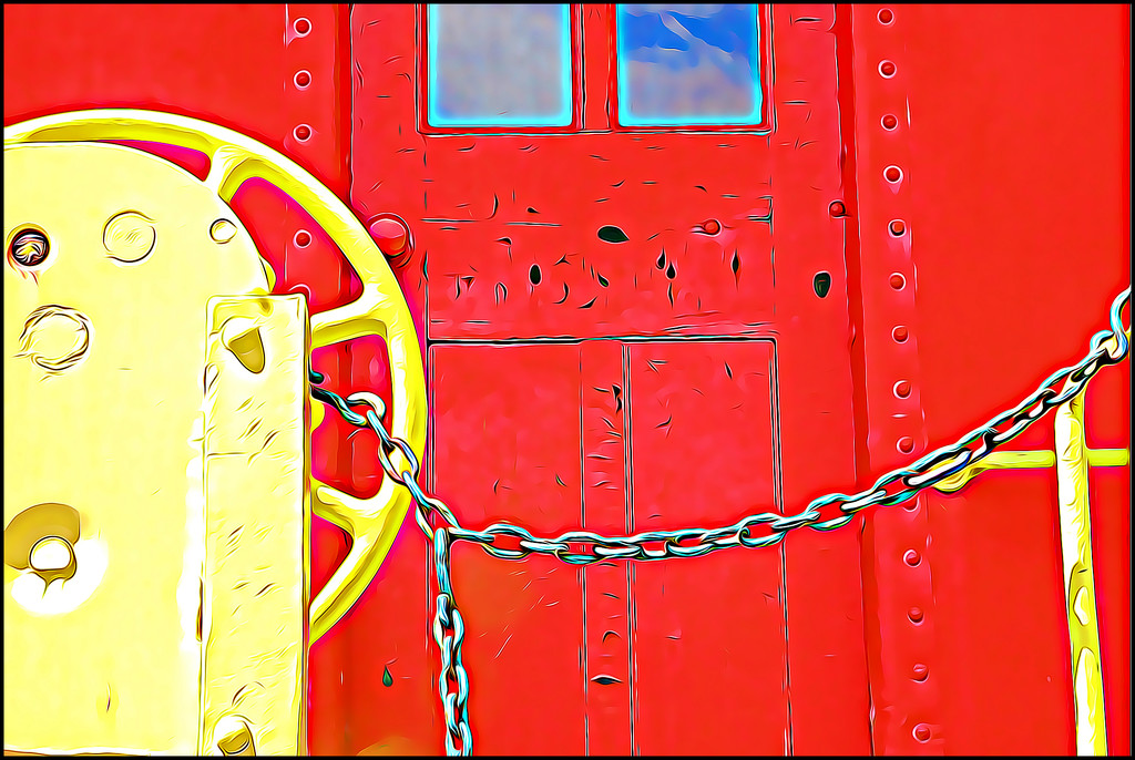 Colorful Caboose by olivetreeann