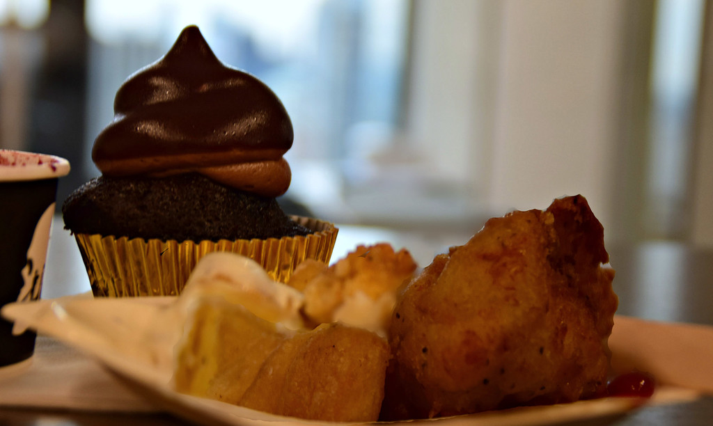 cupcake, fish and chips and gelato by summerfield