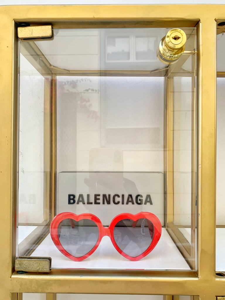 Balenciaga hearts glasses.  by cocobella
