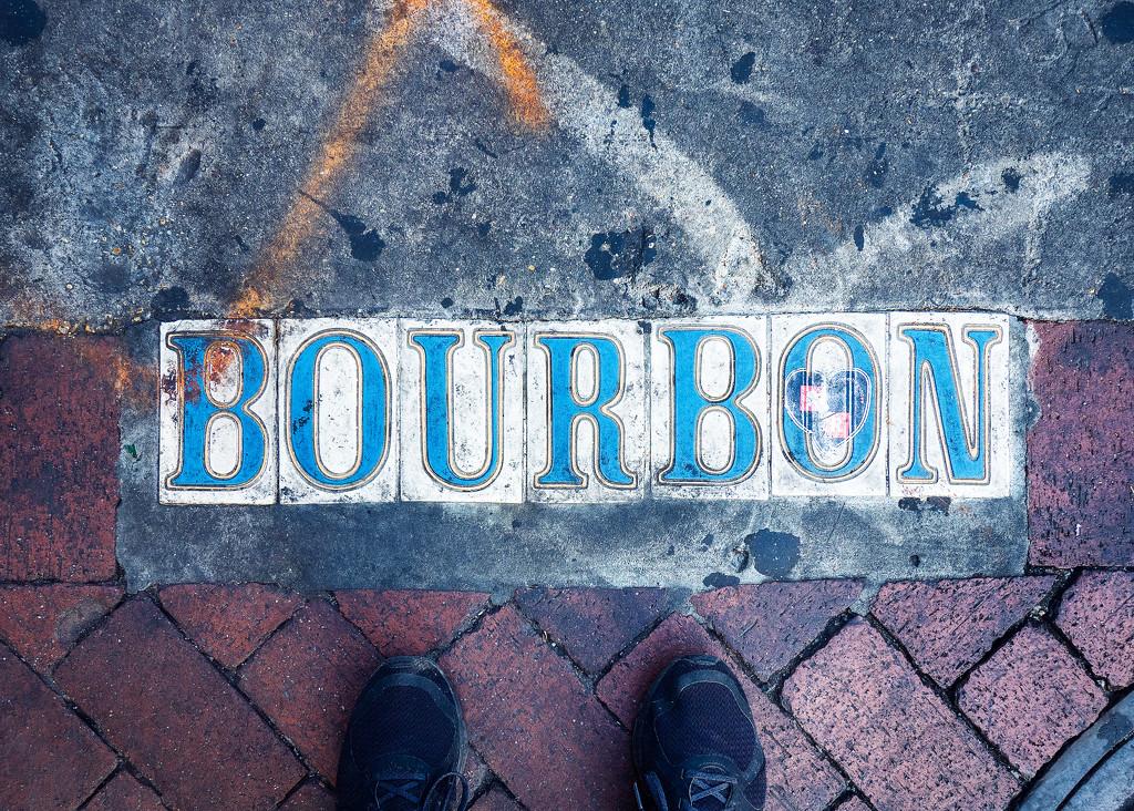 Standing on Bourbon Street by rosiekerr