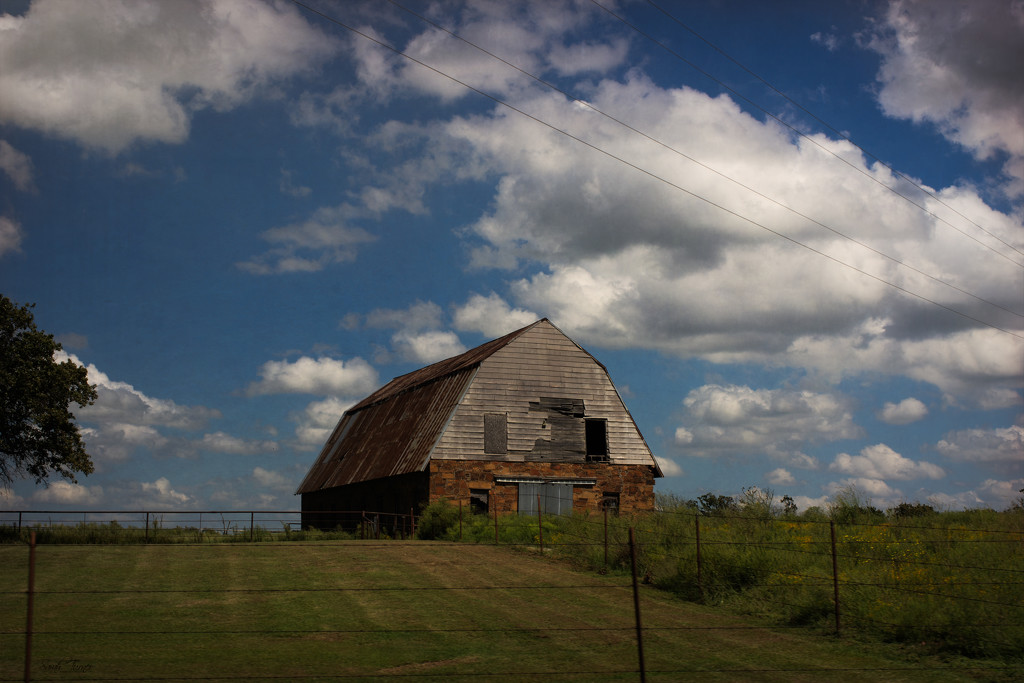 Barn on a hill by samae
