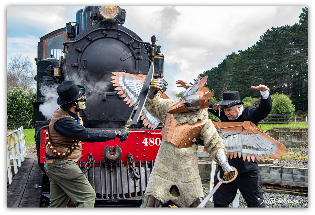 Steampunkers altercation... by julzmaioro