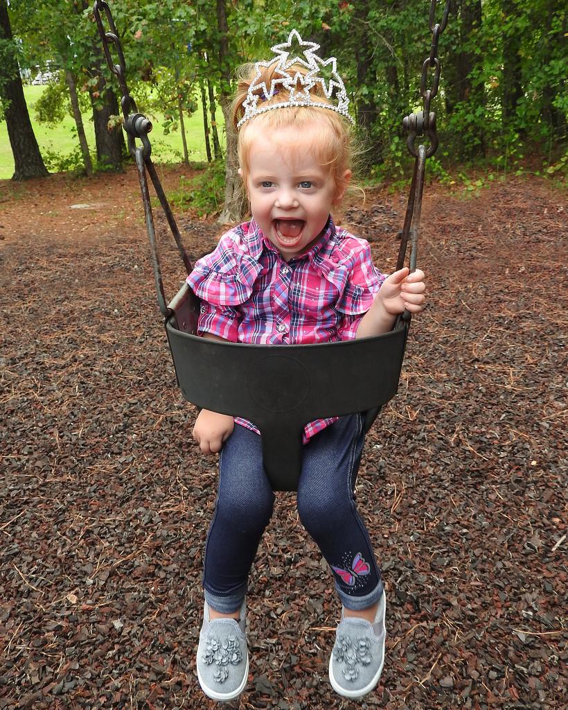 The princess is swinging! by homeschoolmom