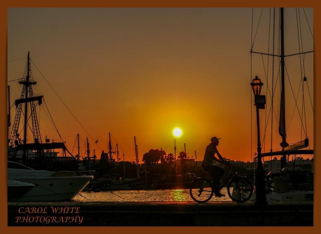 Kos Harbour Sunset (best viewed on black) by carolmw