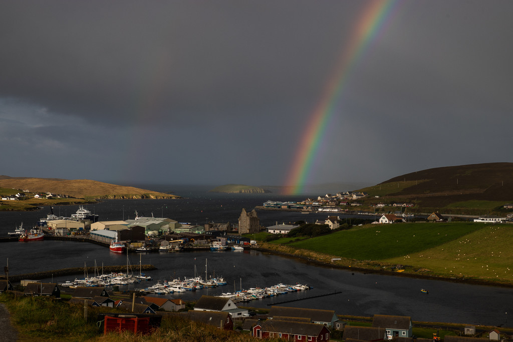 Scalloway Rainbow by lifeat60degrees