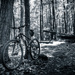 Mountain biking at the reservoir. by batfish