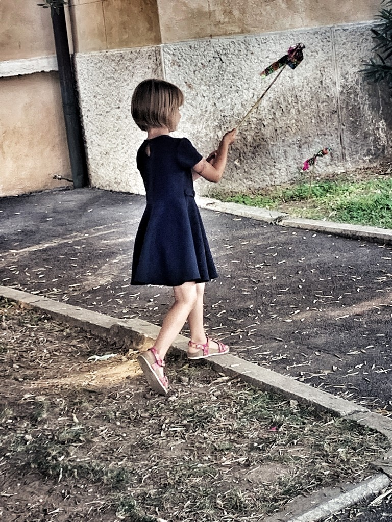 The girl with a toy bird by caterina