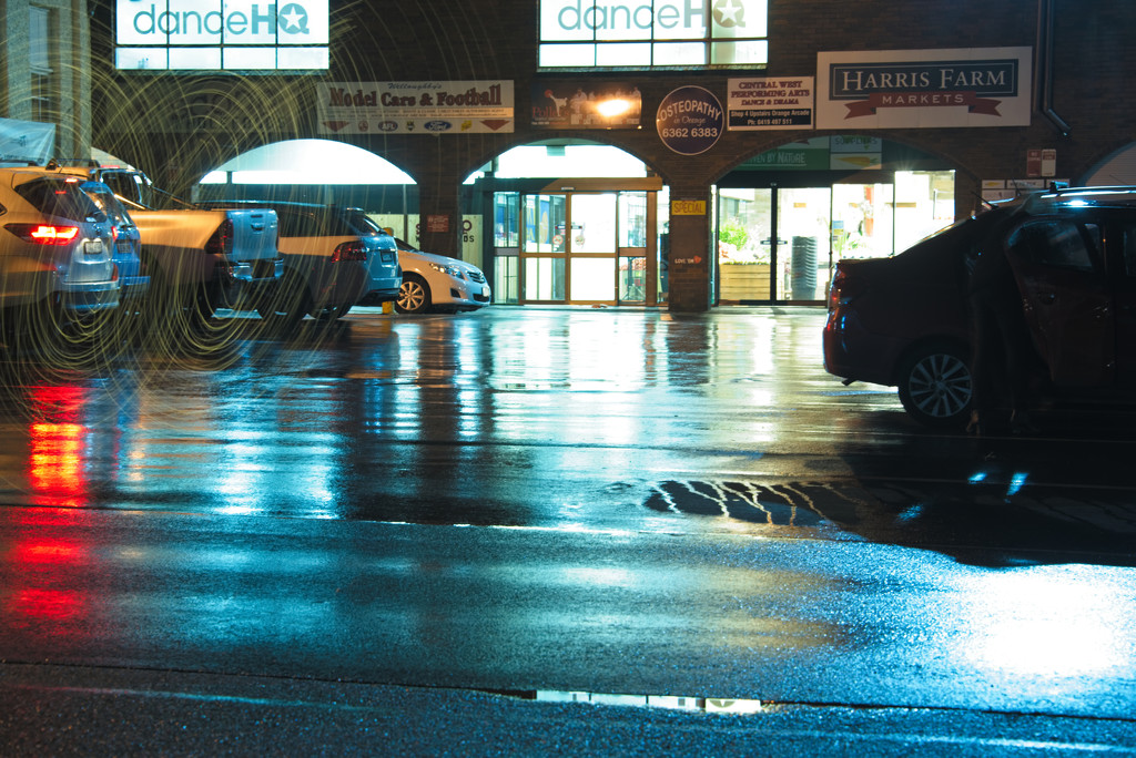 Reflections on a wet night by fr1da