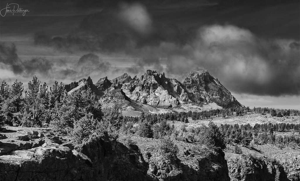 Broken Top B and W by jgpittenger