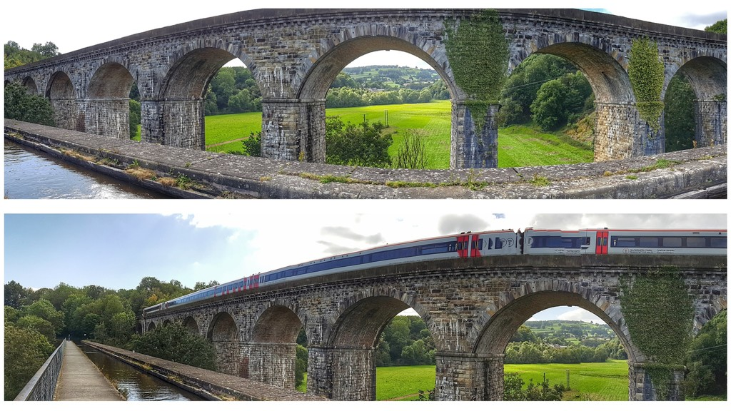 A couple of panoramic views of Chirk Aquaduct by lyndamcg