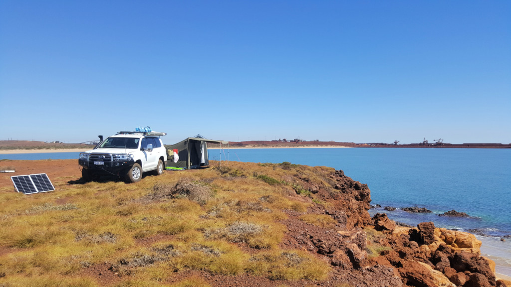 Our camp site at Point Samson by leestevo