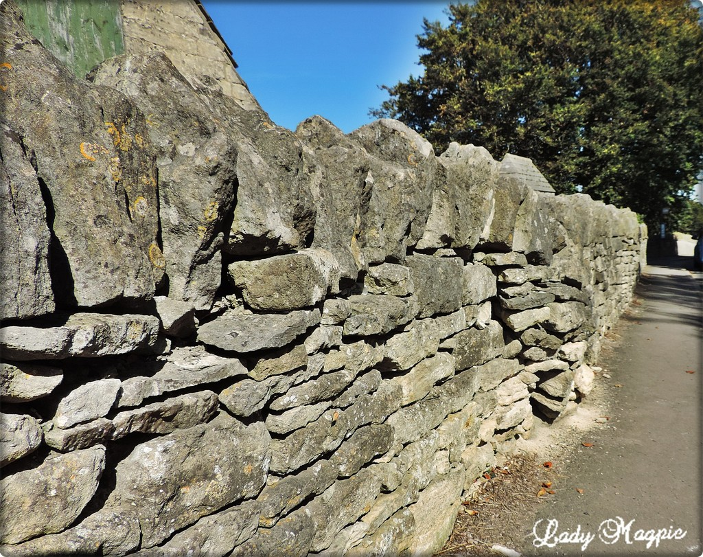 A Pregnant Cotswold Stone Wall by ladymagpie