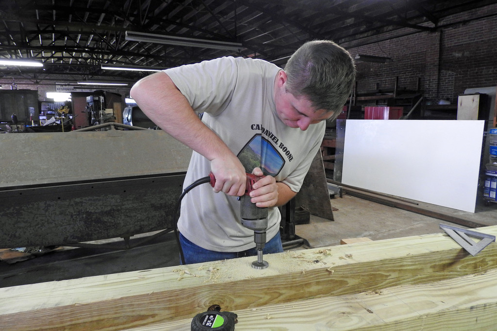 Drilling holes by homeschoolmom