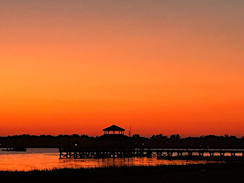 A magnificent sunset at Brittlebank Park, Charleston. by congaree