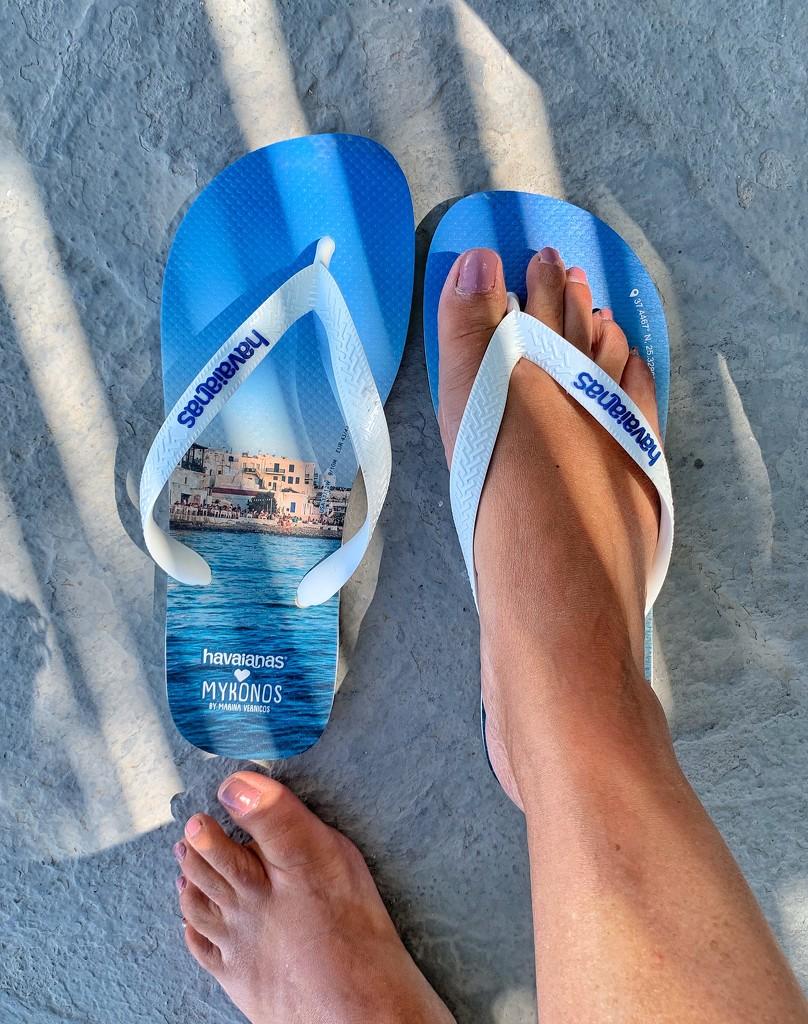 💙 Mykonos flip flop.  by cocobella