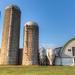 Silos and barn
