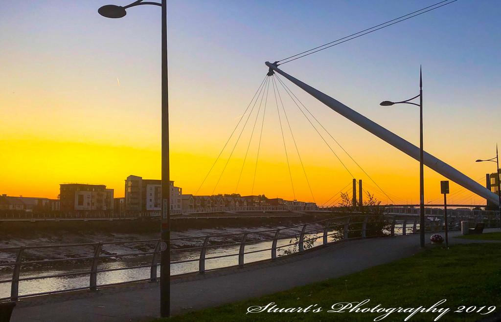 Footbridge aglow  by stuart46