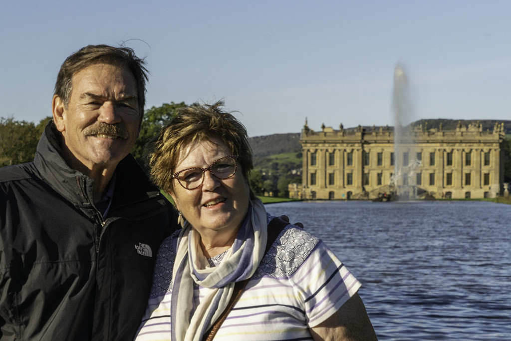 Ken and me, Chatsworth (Louise's pic) by pamknowler